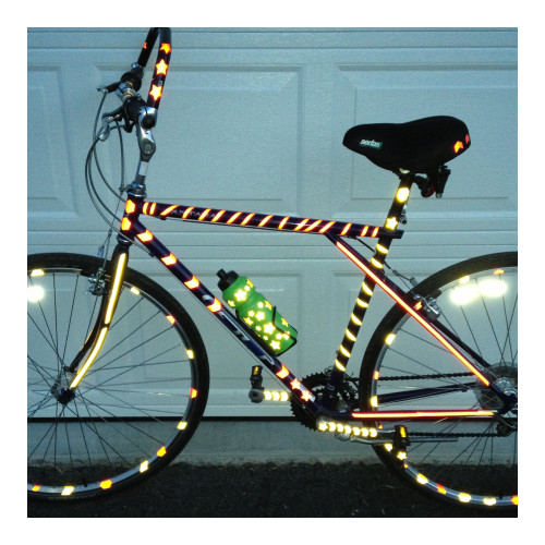Reflective bike stickers bicycle decal stickers