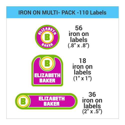 Iron on clothing label iron on name label identame labels for Iron on shirt labels